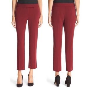 Milly Skinny Slouch Pant in Bordeaux